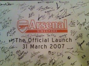 Arsenal Singapore Launch