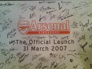Arsenal Singapore Launch